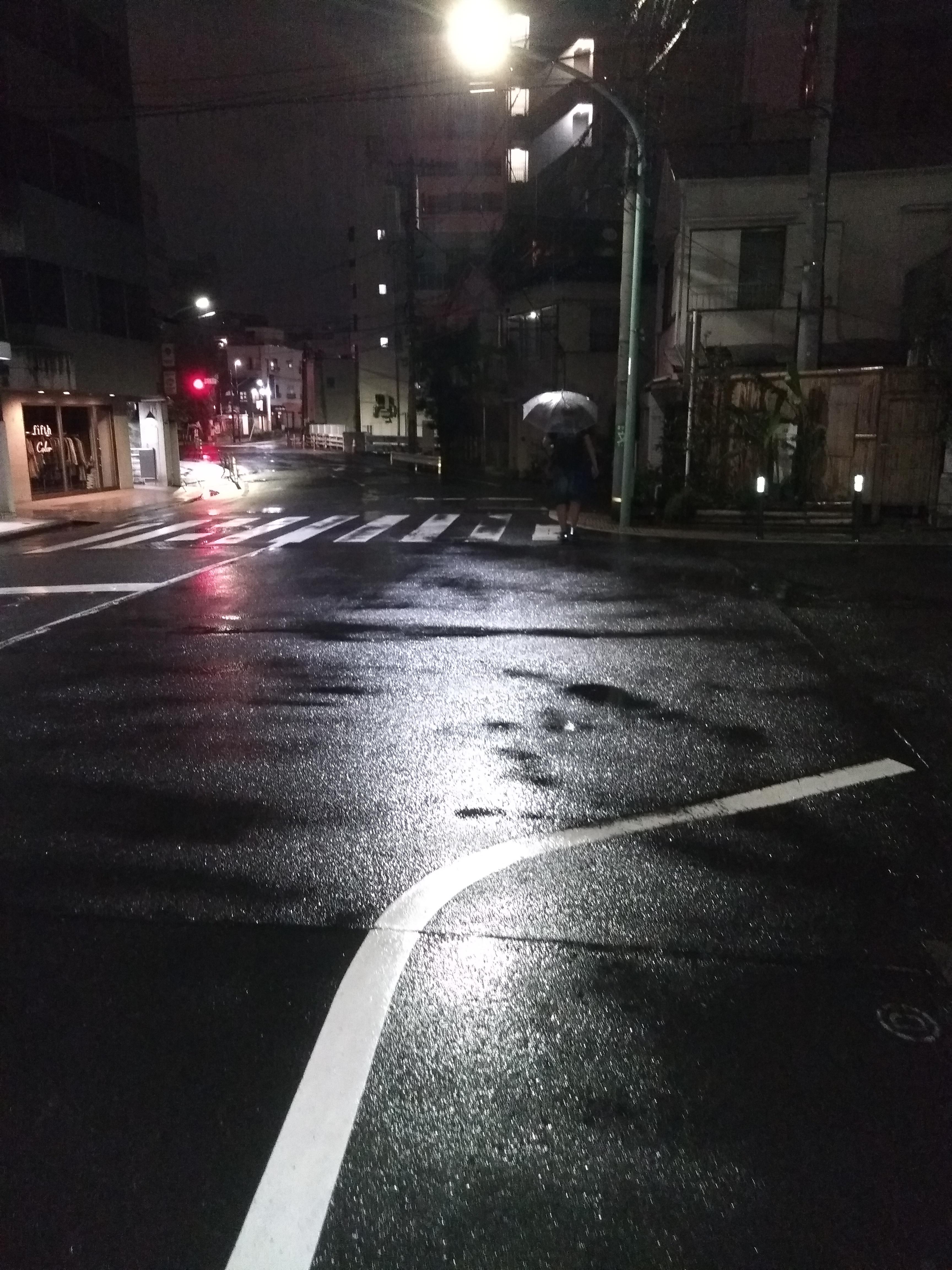 Токио после дождя ночью